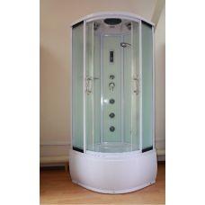 Полукруглая душевая кабина Ammari (Аммари) AM-102-80 White 80*80 см для ванной комнаты