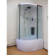 Полукруглая душевая кабина Ammari (Аммари) AM-120 White 85*120 см для ванной комнаты