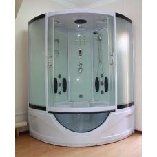 Полукруглая душевая кабина Ammari (Аммари) AM-800 White 150*150 см для ванной комнаты