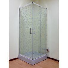 Полукруглая душевая кабина Ammari (Аммари) AM-14-80K 80*80 см для ванной комнаты