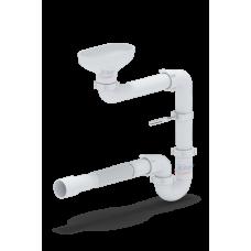 Сифон Анипласт DR5015 с разрывом струи/потока для раковины-умывальника