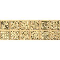 Бордюр Aparici (Апаричи) Enigma Gold Cenefa 6.5*20 см для ванной комнаты, кухни, прихожей, квартиры и дома