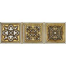 Бордюр Aparici (Апаричи) Enigma Symbol Gold Cenefa 6.5*20 см для ванной комнаты, кухни, прихожей, квартиры и дома