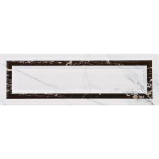Испанская настенная керамическая плитка Aparici (Апаричи) Statuario Blanco Ornato 25,1*75,6 см для ванной комнаты, кухни, прихожей, квартиры и дома