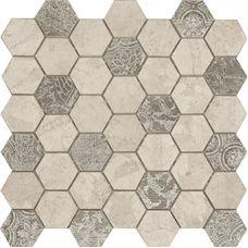 Мозаика Atlantic Oxford Atelier Hexagono 34*34 см для ванной комнаты, кухни, прихожей, квартиры и дома