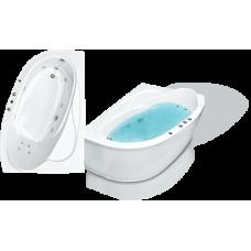 Асимметричная акриловая ванна Bach Изабелла 150*100 см для ванной комнаты