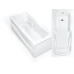 Прямоугольная акриловая ванна Bach Эллина 170*73 см для ванной комнаты