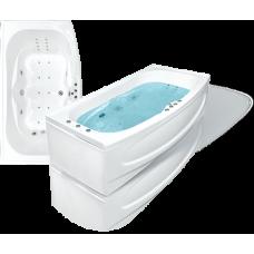 Прямоугольная акриловая ванна Bach Джени 190*110 см для ванной комнаты