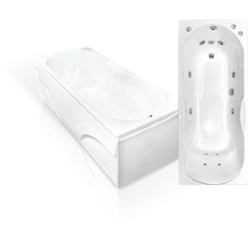 Прямоугольная акриловая ванна Bach Лаура 170*70 см для ванной комнаты