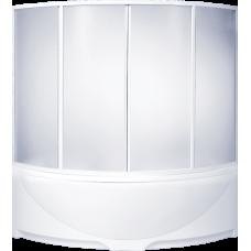 Шторка Bas (Бас) Дрова (Drova) для угловой акриловой ванны в ванной комнате