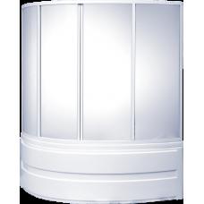 Шторка Bas (Бас) Сагра (Sagra) для асимметричной акриловой ванны в ванной комнате