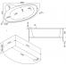 Асимметричная акриловая ванна Bas (Бас) Сагра (Sagra) 160*100 для ванной комнаты