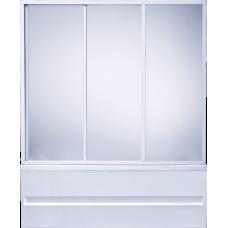 Шторка Bas (Бас) Стайл (Style) для прямоугольной акриловой ванны в ванной комнате