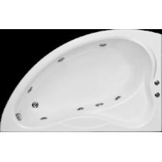 Асимметричная акриловая ванна Bas (Бас) Вектра (Vectra) 150*90 для ванной комнаты