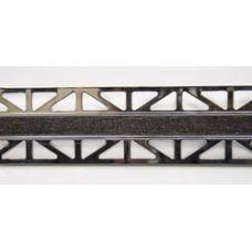Профиль Butech (Бутеч) Pro-Telo W Wenge Laton Cromado 15x12,5x2500 мм для плитки