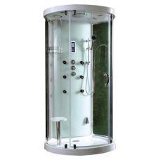 Полукруглая душевая кабина CRW (ЦРВ) AB003 110*93 см с парогенератором для ванной комнаты