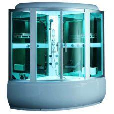 Полукруглая душевая кабина CRW (ЦРВ) AE020 150*150 см с парогенератором для ванной комнаты