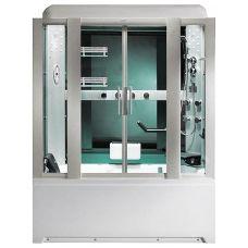Прямоугольная душевая кабина CRW (ЦРВ) AE025 170*90 см с парогенератором для ванной комнаты