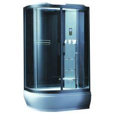 Асимметричная душевая кабина CRW (ЦРВ) AE033 120*90 см с парогенератором для ванной комнаты