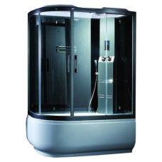 Асимметричная душевая кабина CRW (ЦРВ) AE035 150*85 см с парогенератором для ванной комнаты