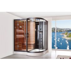 Прямоугольная душевая кабина CRW (ЦРВ) AG0003 185*138 см с парогенератором для ванной комнаты