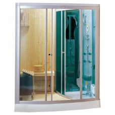 Прямоугольная душевая кабина CRW (ЦРВ) AG001 170*120 см с парогенератором для ванной комнаты
