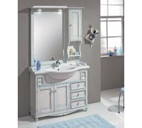 Мебель Cezares Arte Povera Star 105 Casetti Patinato Blu для ванной комнаты