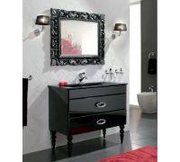 Мебель Cezares Moderno Orchidea 100 Nero Laccato Lucido для ванной комнаты
