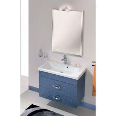 Мебель Cezares (Чезарес) Moderno Orchidea 80 Sospeso Blu Marino Metallizzato для ванной комнаты