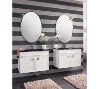 Мебель Cezares Moderno Trend Doppio Sospeso Bianco Frassinato для ванной комнаты
