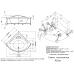 Угловая акриловая ванна Doctor Jet (Доктор Джет) Vis Vitalis Alien VV-32 140*140 см для ванной комнаты