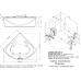 Угловая акриловая ванна Doctor Jet (Доктор Джет) Vis Vitalis Napoli VV-37 150*150 см для ванной комнаты