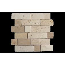 Испанская мозаика Dune (Дюн) Mosaico Travertino Brick 184996 D-515 30,5*30,5 см для ванной комнаты