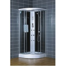 Полукруглая душевая кабина Eurosun (Евросан) S015-80L 80*80 см для ванной комнаты