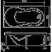 Прямоугольная акриловая ванна Eurolux (Евролюкс) Аполлония (Apollonia) 180*90 см для ванной комнаты