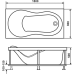 Прямоугольная акриловая ванна Eurolux (Евролюкс) Оливия (Olivia) 180*80 см для ванной комнаты