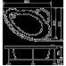 Асимметричная акриловая ванна Eurolux (Евролюкс) Вавилон (Vavilon) 170*120 см для ванной комнаты