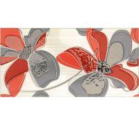 Декор Fanal Line Decorado Flor Rojo 25*50