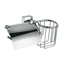 Держатель Fixsen (Фиксен) FX-61300 Kvadro (Квадро) FX-61309+10 для бумаги и освежителя для ванной комнаты и туалета