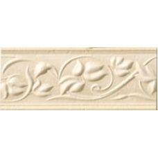 Итальянский керамический бордюр Gardenia Orchidea (Гардения Орхидея) Crete Listello Relievo Beige-Oro 22620 8*20 см для ванной комнаты, кухни, прихожей, квартиры и дома