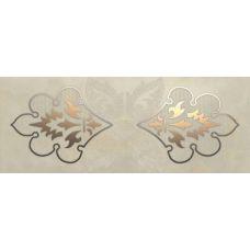 Итальянский керамический декор Gardenia Orchidea (Гардения Орхидея) Onice Inserto Damasco Oro Avventurina 61265 19x49 см для ванной комнаты, кухни, прихожей, квартиры и дома
