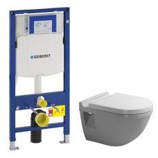 Комплект Geberit + Duravit 600.381.00.5: система инсталляции Duofix UP320 и унитаз Starck 3 с сидением