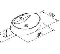 Раковина Gorenje 741376 UM 58.98 58 см