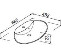 Раковина Gorenje 790571 UM 69.136 VEGA 69 см
