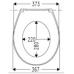 Универсальная крышка-сиденье Haro Сomo Swarovski White для большинства унитазов