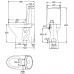 Напольный унитаз IDO Seven D 3661101501 для ванной комнаты и туалета