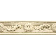 Керамический бордюр из Испании Keraben (Керабен) Sybaris (Сибарис) Listelo Tauride Crema 6*24 см для ванной комнаты, кухни, прихожей, квартиры и дома