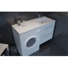 Комплект Kolpa-San Modul Concept 1 122 состоящий из тумбы и раковины для стиральной машины