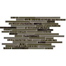 Испанская мозаика L'Antic Colonial (Лантик Колониаль) Mosaico Eternity Mini Strip Emperador G-522 29.7*29.7 см для ванной комнаты