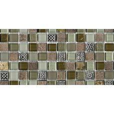 Испанская мозаика L'Antic Colonial (Лантик Колониаль) Mosaico Tecno Glass Country G-522 29.6*29.6 см для ванной комнаты